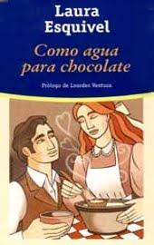 """Portada de la novela """"Como agua para Chocolate"""" de Laura Esquivel."""