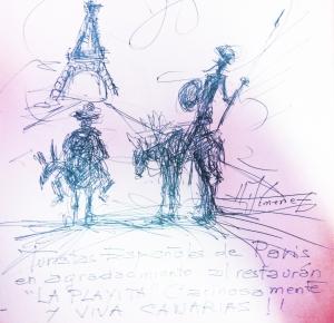 Dedicatoria del artista Joaquim Jimenez a La Playita...