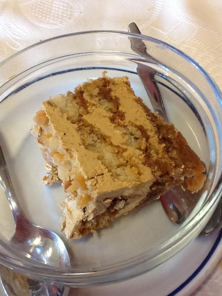 Tarta de moka casera de La Playita