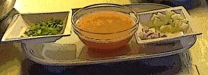Gazpacho en La Playita