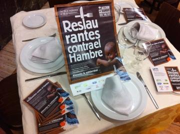Material de la campaña Restaurantes contra el Hambre en La Playita.