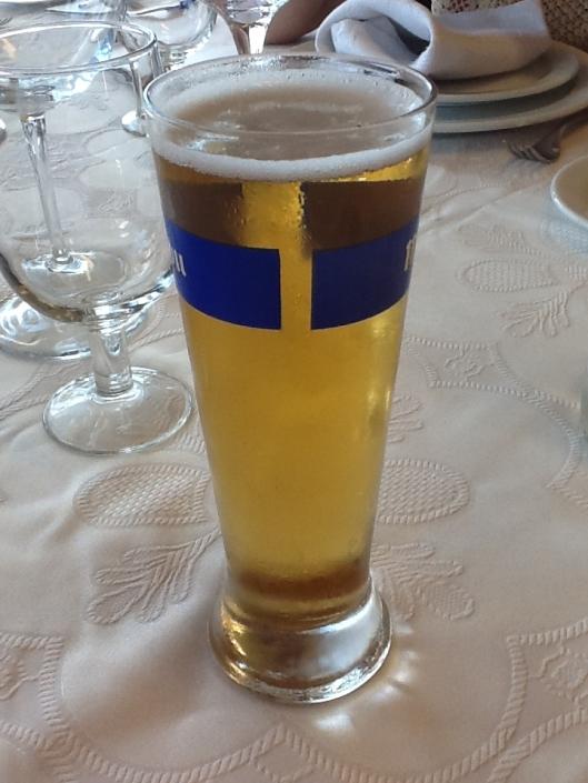 Una cerveza sin alcohol en La Playita.