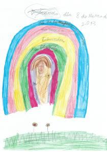 Dibujo sobre la mujer trabajadora, obra de Eduardo Herrera Jarque, de 6 años.